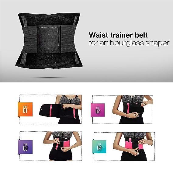 eab82fa648 MUKATU Women s Workout Waist Trainer Belt Back Support Slimming Cincher  Fitness Bodyshaper at Amazon Women s Clothing store