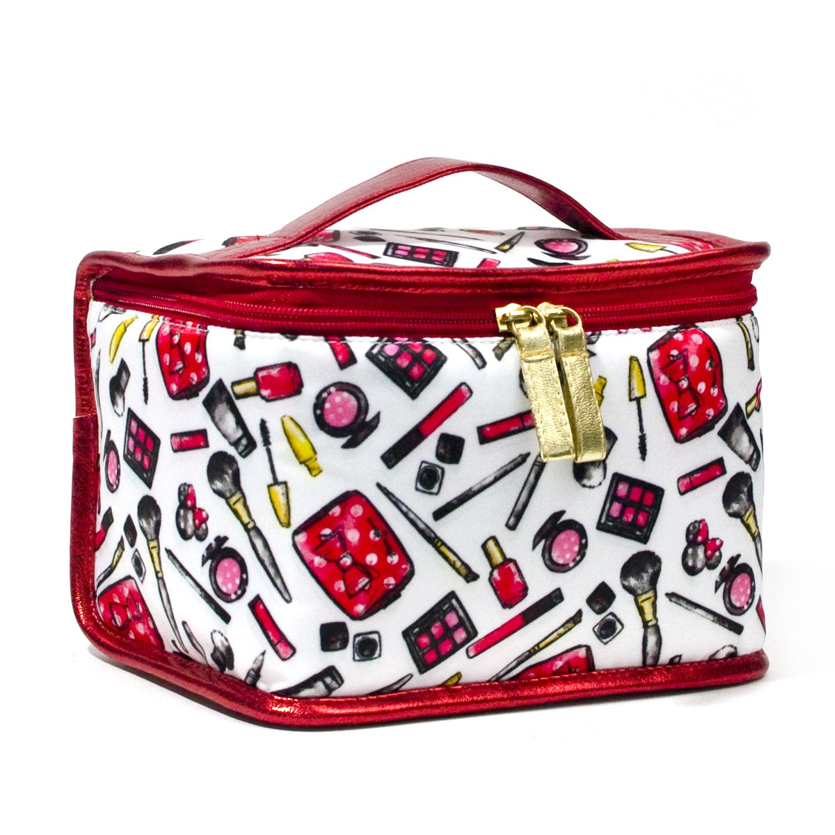 LONDON SOHO NEW YORK Disney Collection Minnie Mouse Cosmetic Train Case, Minnie's Makeup