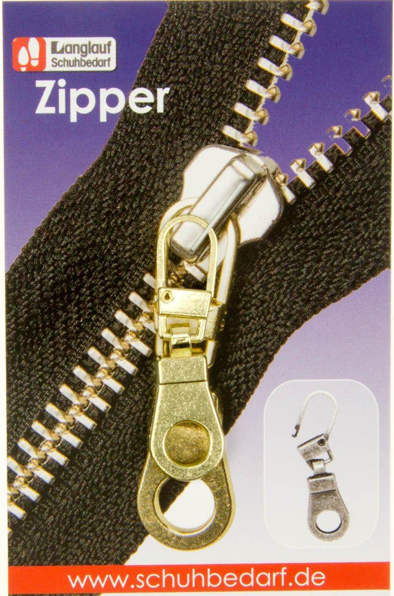 Cerniera zip occhiello per riparazione chiusura lampo gold Langlauf