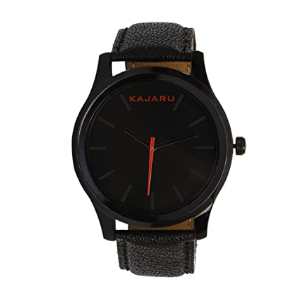 Kajaru KJR-12 Classic Analog Black Dial Watches for Men's and Boy's