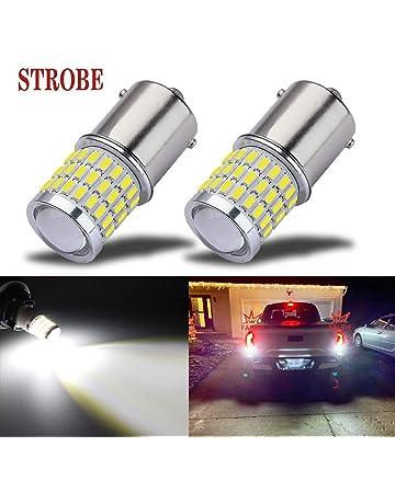 iBrightstar Newest 9-30V Flashing Strobe Blinking Brake Lights 1156 1141 1003 BA15S LED Bulbs