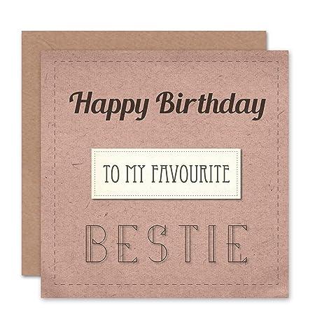wee blue coo happy birthday favourite bestie friend birthday card