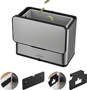 SILBERTHAL Compostador Cocina 8 filtros de Recambio | Papelera Cocina para residuos organicos | Cubo Basura organica con Tapa | Acero Inoxidable: Amazon.es: Hogar