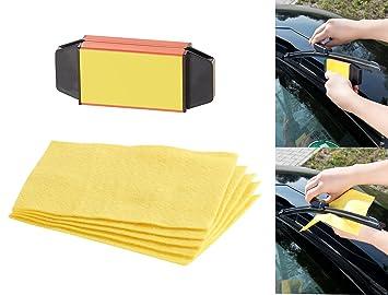 Gamuzas para parabrisas Pearl:limpiaparabrisas con 5 gamuzas de fieltro, con cortador: Amazon.es: Coche y moto