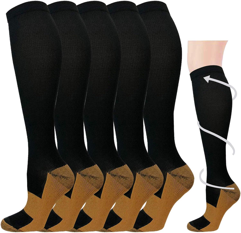 Graduated Medical Compression Socks for Women&Men 20-30mmhg Knee High Sock