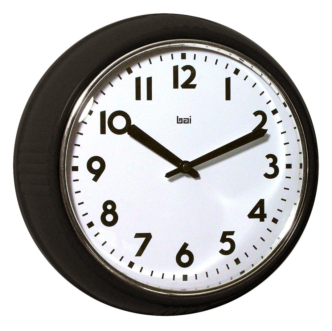 Amazon bai school wall clock black home kitchen amipublicfo Gallery