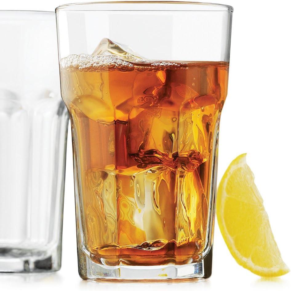 Gibraltar Libbey 15237 DuraTuff 10 oz Beverage Glass, Set of 6 w/FDL Party Picks