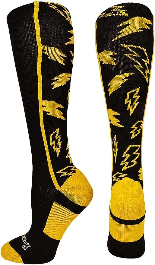 Royal Orange Crazy Fun Colorful Stormchaser Christmas Holiday Gift Stocking Stuffer Lightning Bolt Men/'s /& Women/'s Dress  Casual Socks