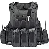 YAKEDA Outdoor Tactical Airsoft Vest Adjustable Fit Adult