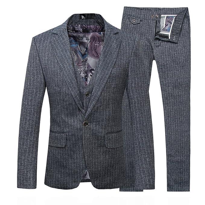 Traje para hombre compuesto por chaqueta y pantalón, talle ajustado, esmoquin para cena informal, de calidad suprema
