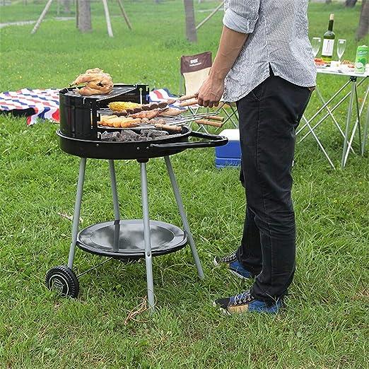 Framy Carro De Metal Barbacoa De Carbón Grill Pit Acampar Al Aire Libre Barbacoa Cocina Jardín Herramientas Estufa Barbacoa Utensilios De Cocina Cocina: Amazon.es: Jardín