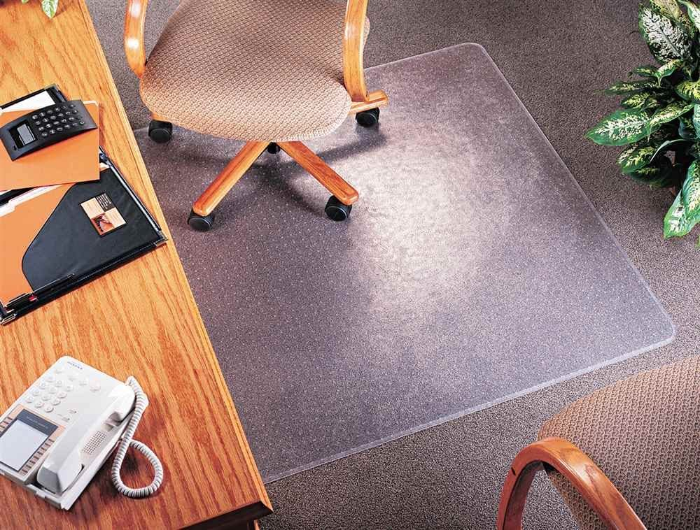 Amazon Com Supermat Medium Pile Carpet Beveled Edge Chair Mat Size 36 X 48 Office Products