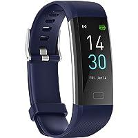 showyoo Reloj Deportivo de Frecuencia Cardíaca, Oxígeno en Sangre, Presión Arterial, Temperatura, Pulsera de Actividad…