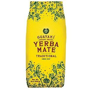 Guayaki Yerba Mate | Organic Alternative to Herbal Tea, Coffee and Energy Drink | Traditional Loose Leaf | 40 mg of Caffeine per Serving | 16 Oz