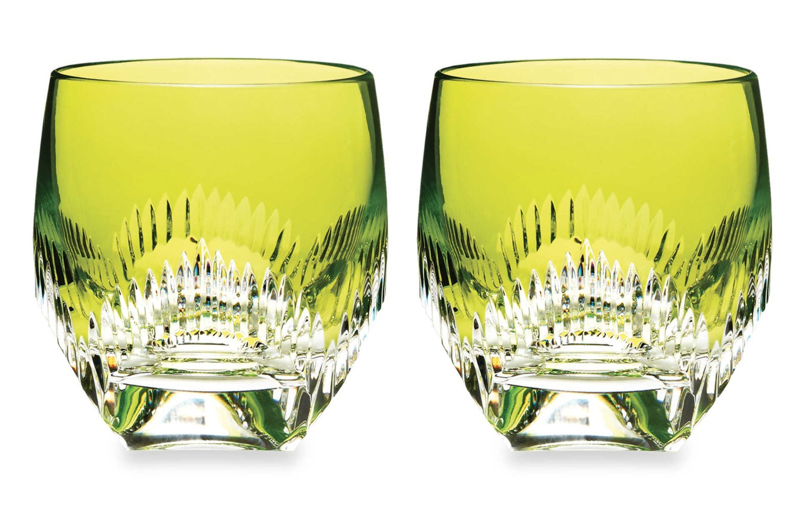 Waterford Mixology Neon Lime Green Tumbler, Pair