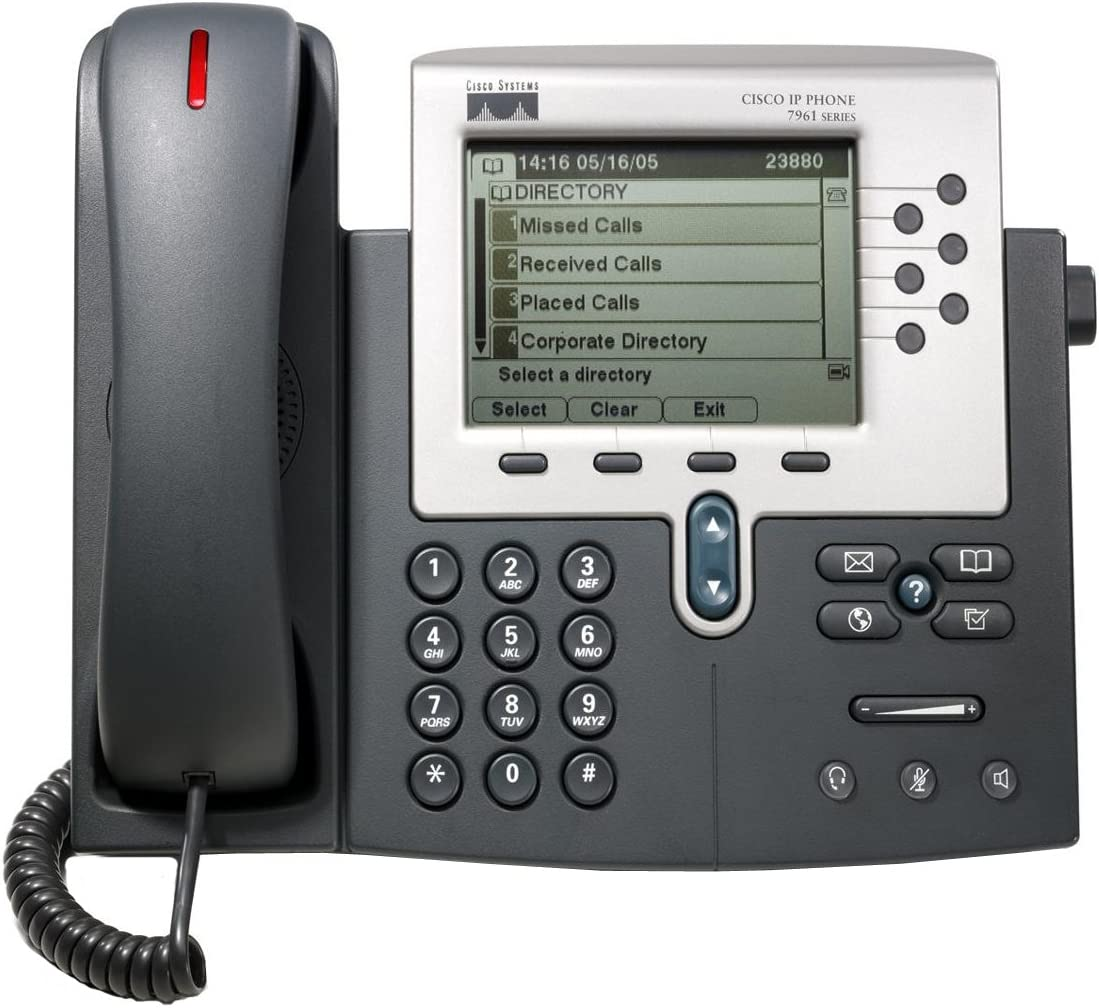 Cisco CP-7961G Refurbished  IP Phone W// Stand cords handsets