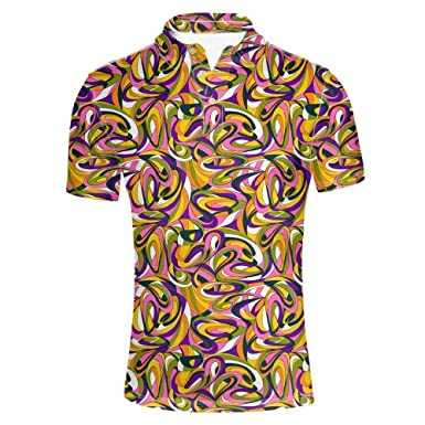 Camisa De Polo para Hombre Verano Solapa Manga Corta Retro Polos ...
