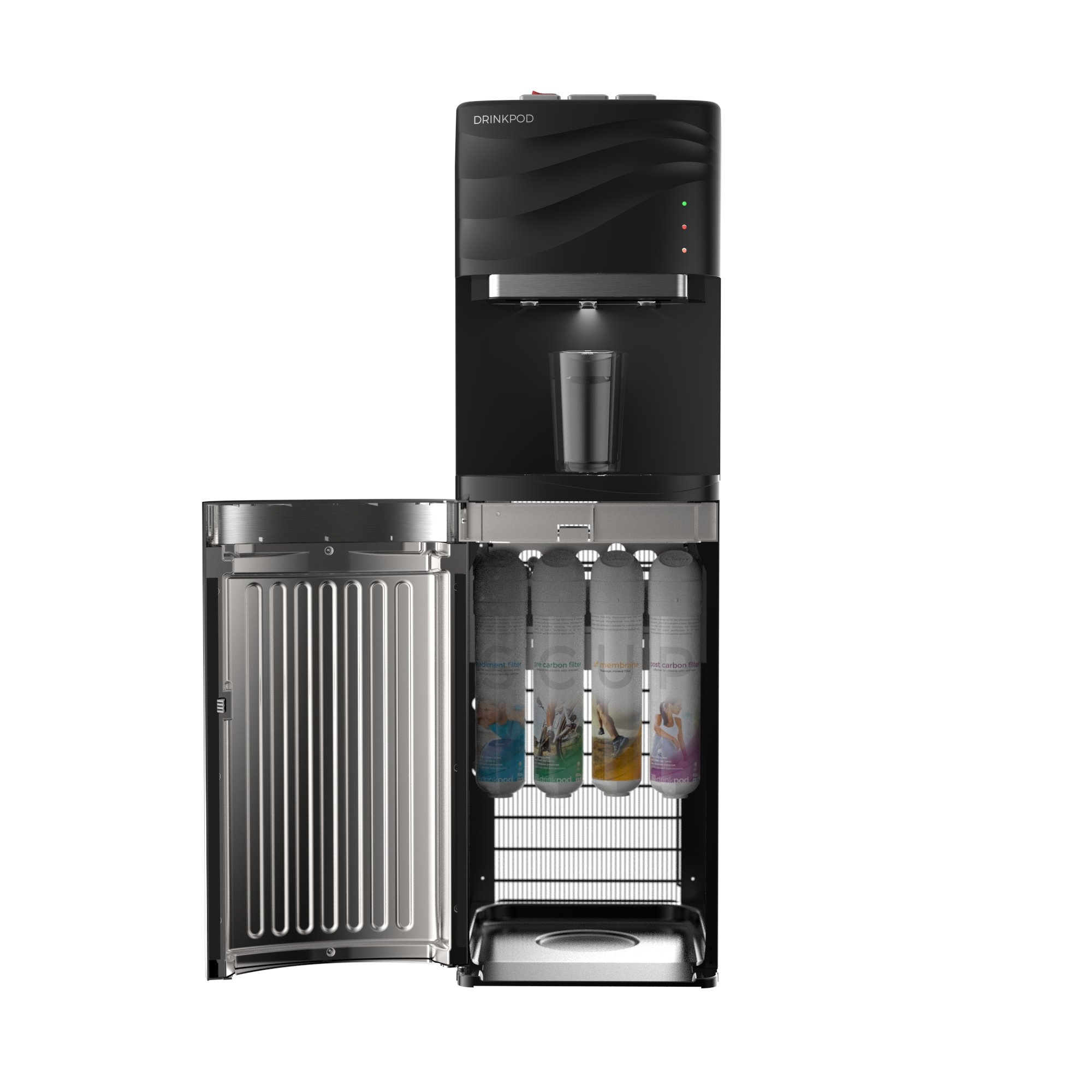 VALUE PACK: DRINKPOD USA 100 Series Bottle Less Water Cooler with 4 Filters and 3 Temp. Modes for Home or Office - UL / Energy Star Approved. Value Pack Includes an Extra Set Of Filters (8 Total) by DRINKPOD USA (Image #2)