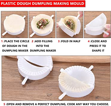 1x Pastry Tools Plastic Dumpling Tool Maker Dough Cutter Press Kitchen Accessory