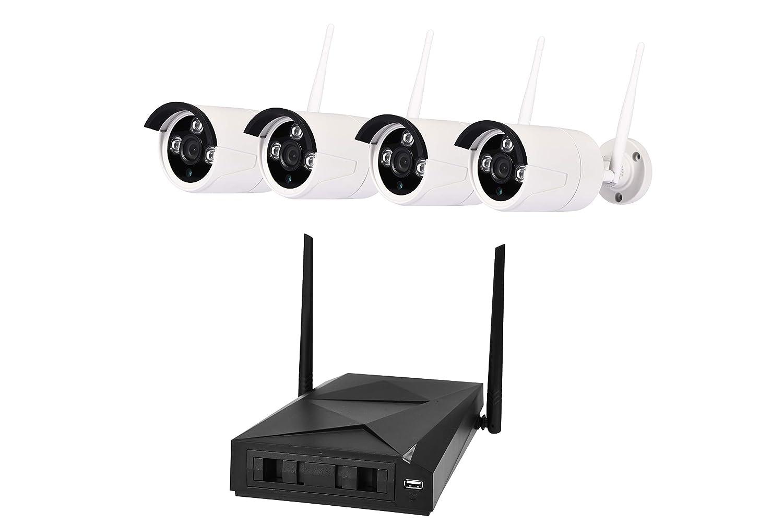 4er Wifi Kit Ü berwachungssystem Set Kameraü berwachung Videoü berwachung Ü berwachungskamera Sicherheitskamera HDMI 5G P2P Cloud mit Bewegungssensor Shov
