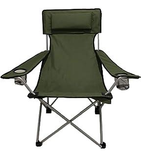 Peces Senderismo Plegable para Mochileros GEERTOP Silla de Camping Plegable con Bolsa Port/átil Ligera Picnics