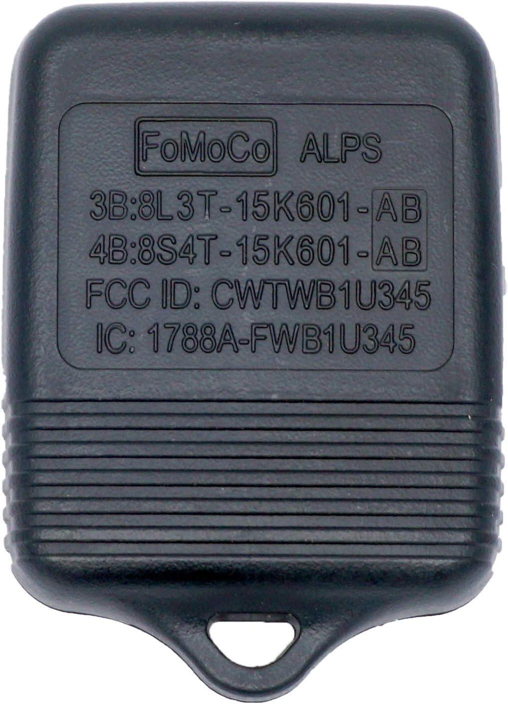 Fits Ford Lincoln Mercury 3B:8L3T-15K601-AB OEM 4 Button Key Fob