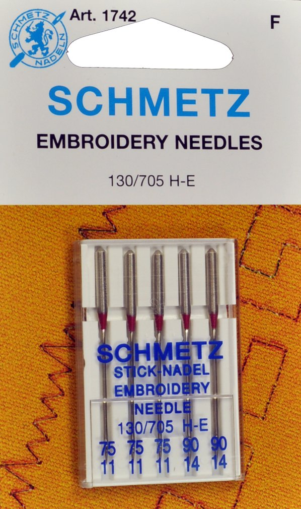 SCHMETZ Embroidery Needles Assorted Sizes