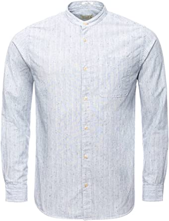 Jack & Jones Jjvfraiser Shirt L/s One Pocket CC Camisa, Multicolor (Cloud Dancer Fit:Slim), Large para Hombre: Amazon.es: Ropa y accesorios