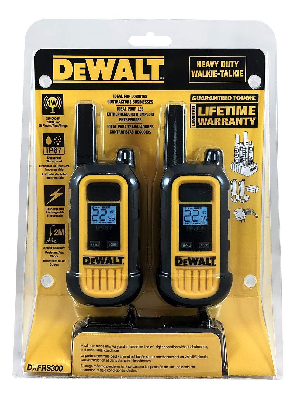 DeWALT DXFRS300 1W Walkie Talkies Heavy Duty Business Two-Way Radios (Pair) by DEWALT (Image #12)