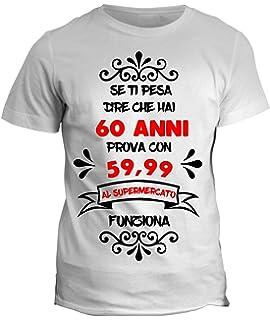 Wixsoo T Shirt Maglietta Compleanno 60 Anni Divertente Donna