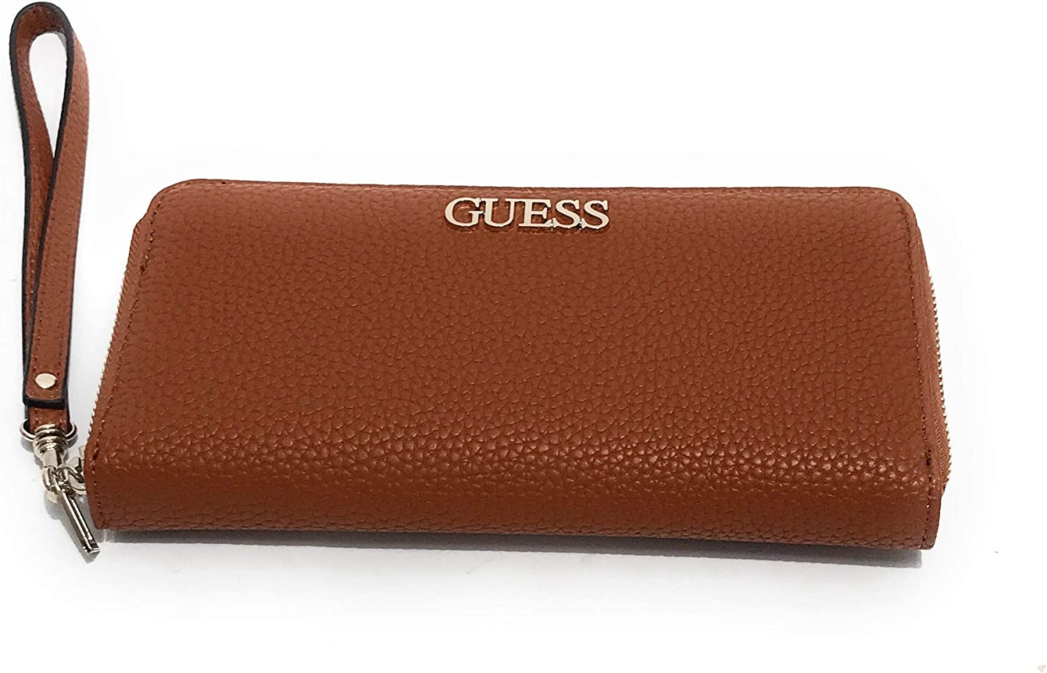 Guess Alby SLG Large Zip Around Cognac: