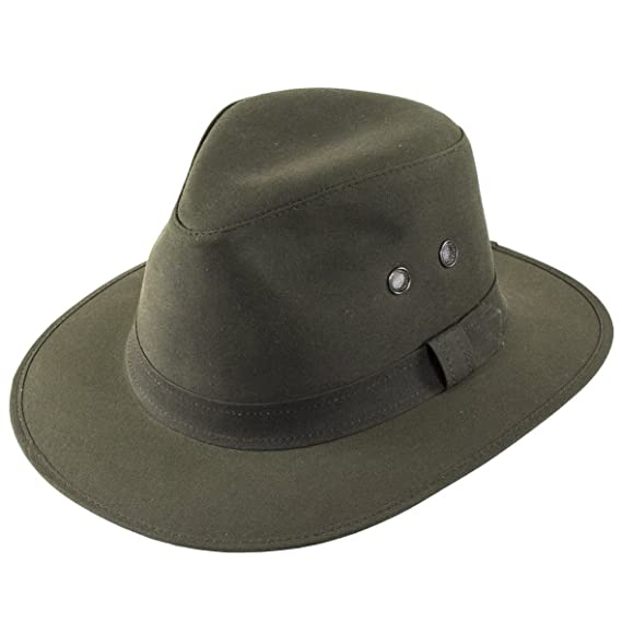 Failsworth Hats Wax Drifter Fedora Hat in Olive  Amazon.co.uk  Clothing 8f3c7335f21