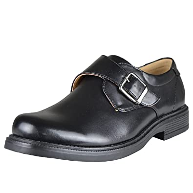 Amazon.com | Mens Dress Shoes Monk Strap Side Buckle Slip On ...
