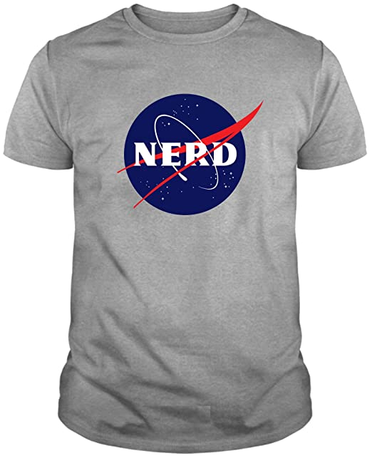 Camiseta de Hombre Nerds Geek Divertidas NASA The Big Bang Theory: Amazon.es: Ropa y accesorios