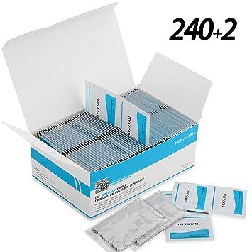MOSSLIAN Toallitas de Limpieza Ideales para Teléfono,Relojes,Espejo,Gafas Protectoras, Espejo Retrovisor, Parabrisas,240+2: Amazon.es: Electrónica