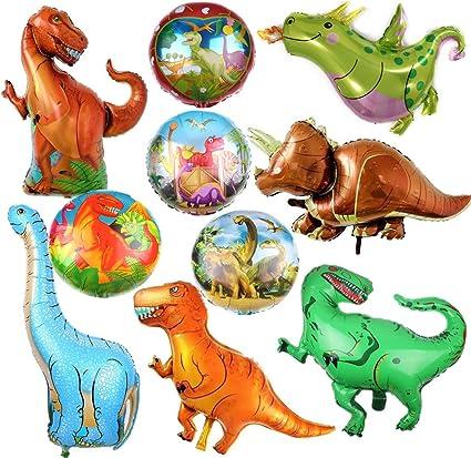 Amazon.com: Paquete de 10 globos de dinosaurios para ...