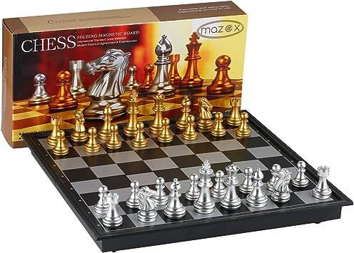 MAZEX Juego de ajedrez Plegable magnético para by Juego de Mesa de ...