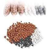 Vicloon Bolas Minerales, 9 Packs Iones Negativos de Bolas de Mineral, Adecuado para filtro iónico para cabezal de ducha…