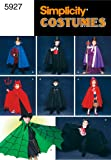 Simplicity Sewing Pattern 5927 Child Costumes, A (S-M-L)