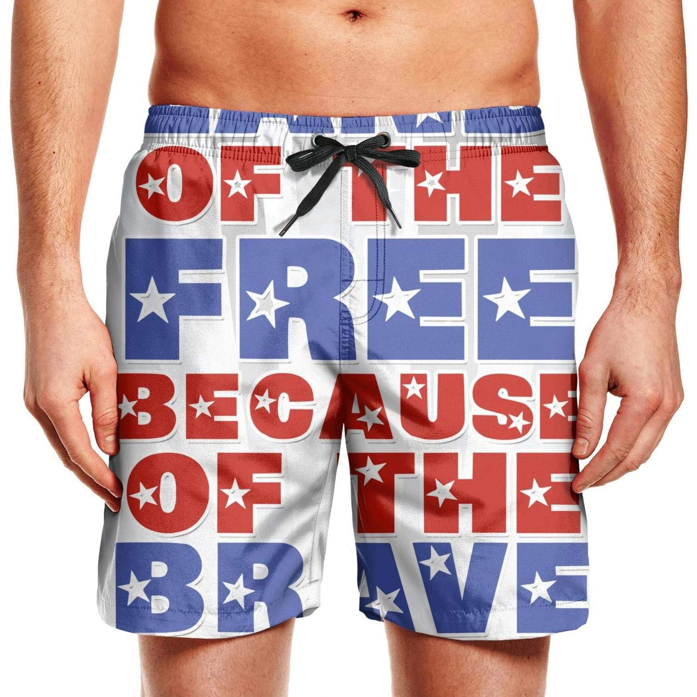 Mesh Quick-Dry Classic Comfortable Fashion Mens Printed Beach Pants Swim Trunks Shorts