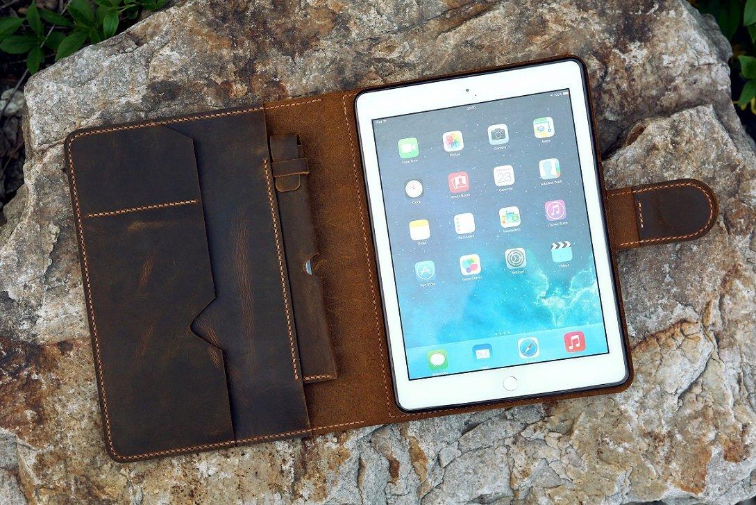 Amazon.com: Vintage distressed leather iPad organizer leather iPad ...
