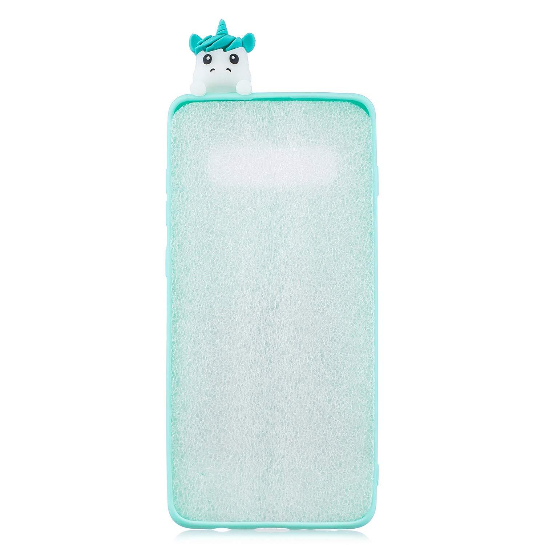 Verde HongYong Simpatico Cane Cover per Samsung Galaxy S10 Plus Silicone Morbide Disegni Bello Divertenti Gomma Morbido Custodia Galaxy S10 Plus Antiurto Protettiva Case Caso Molle con Bracciale