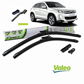 Valeo_group Valeo Juego de 2 escobillas de limpiaparabrisas Especiales para Citroen C4 aircross | 650/400 mm |: Amazon.es: Coche y moto