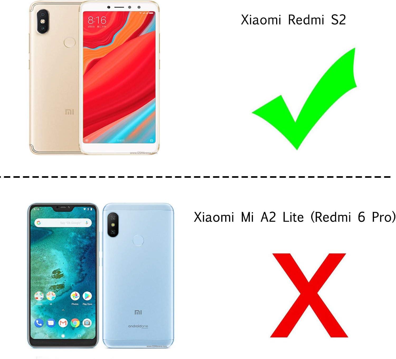 LeYi Funda Xiaomi Redmi S2 con Anillo Soporte, 360 Grados ...