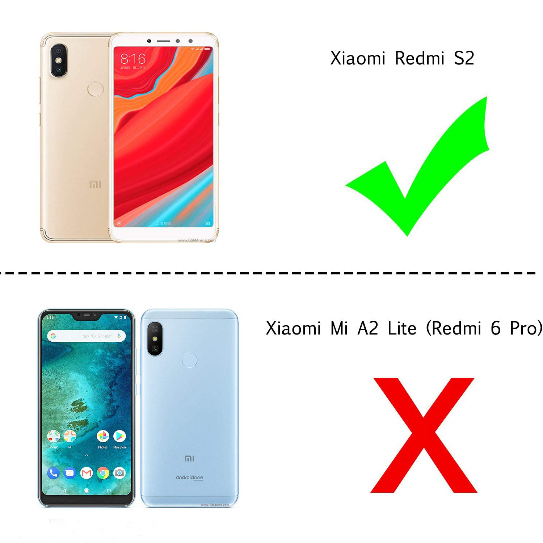 LeYi Funda Xiaomi Redmi S2 / Redmi Y2 con HD Protectores Purpurina Cristal Transparente TPU Gel Silicona Fundas Case Carcasa para Movil Xiaomi Redmi S2 ZX ...