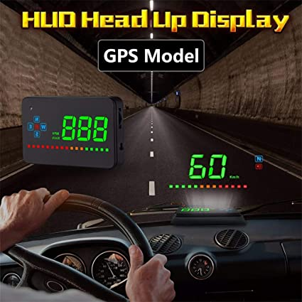 "3.5/"" A2 Auto Vehicle Car GPS HUD Head Up Display Speedometers Overspeed System"