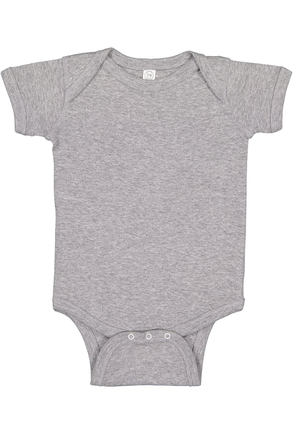 ea568bb81 Amazon.com: Rabbit Skins Infant 100% Cotton Baby Rib Lap Shoulder Short  Sleeve Bodysuit: Clothing