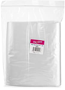 """[100 Bags 9"""" x 12""""] Zip'n'Close Disposable Plastic Resealable Reusable Bags, 2 Mill Thick, Great for Home, Office, Vacation, Traveling, Sandwich, Fruits, Nuts, Cookies, Or Any Storage Needs"""