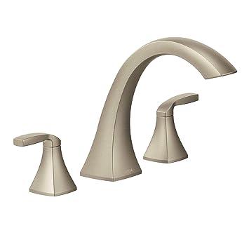 Moen T693bn Voss Two Handle High Arc Roman Tub Faucet Without Valve