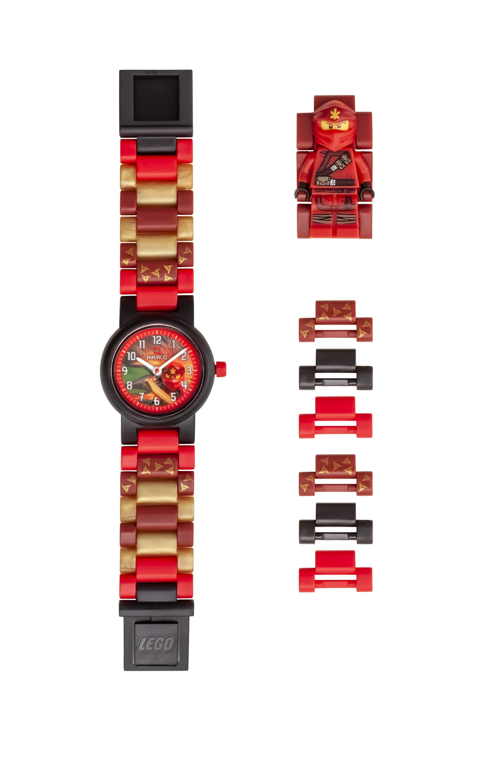 ClicTime Boys' LEGO Ninjago Analog Quartz Watch with Plastic Strap, Red, 20 (Model: 8021643) by ClicTime